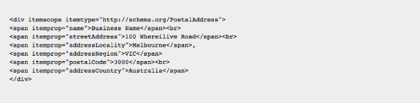 Schema Markup Example
